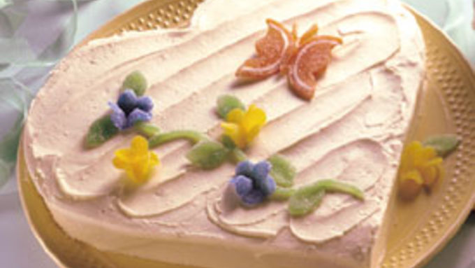 Heart and Flowers Cake