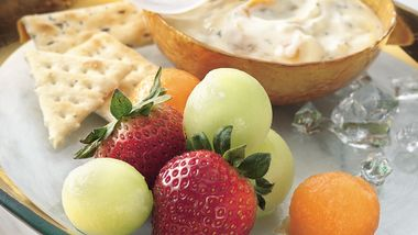 Fresh Fruit with Ginger Dip