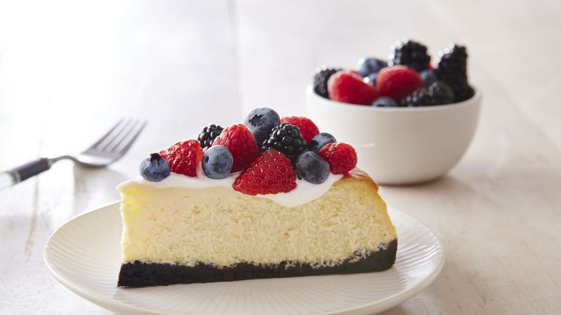 Berry Cheesecake in Chocolate Crust