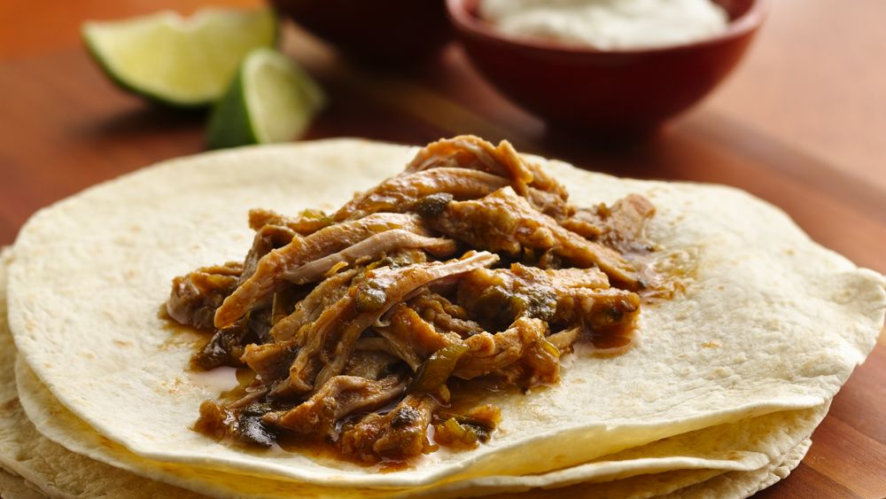 Green Chile Pulled-Pork Burritos