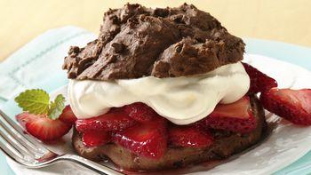 Chocolate-Strawberry Shortcakes