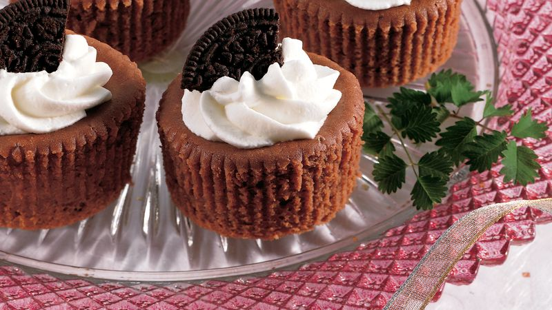 Mini Chocolate Cheesecakes recipe from Betty Crocker