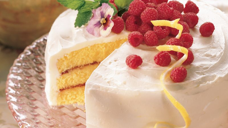 Lemon Layer Cake With Raspberry Filling Recipe