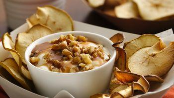 Apple Chips with Salted Caramel Yogurt Dip