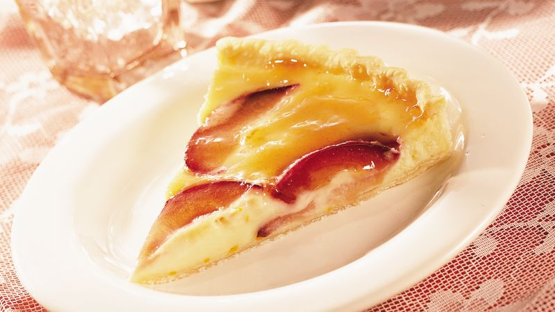 Plum Cream Cheese Tart