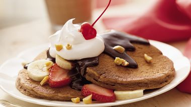 Awesome Banana Split Pancakes