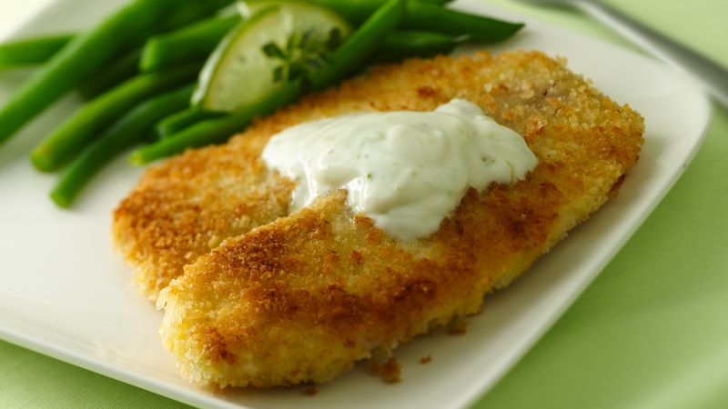 Crispy Fish Fillets with Zesty Lime Sauce