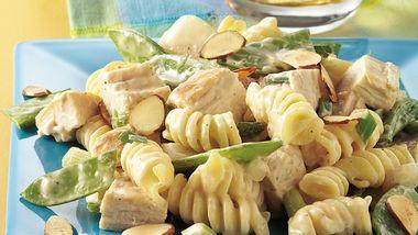 Pea Pod and Chicken Pasta Salad