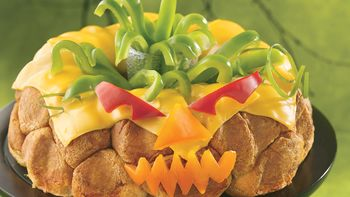 Cheese-Filled Jack-o'-Lanterns