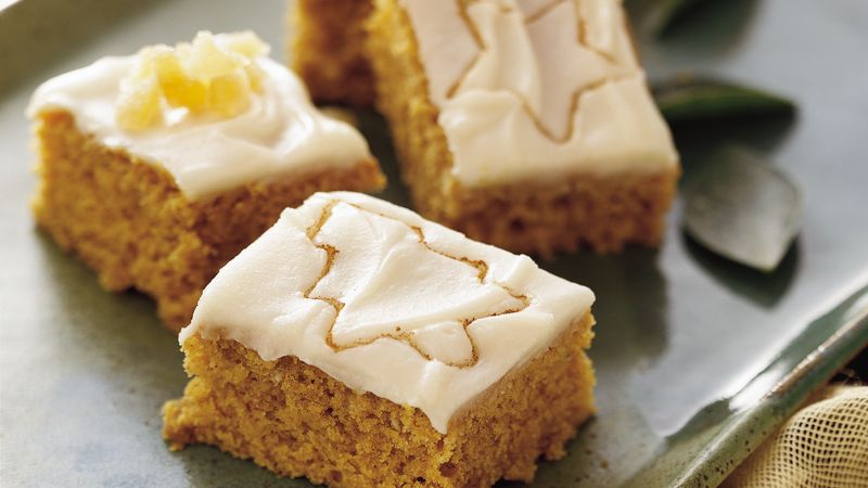 Iced Pumpkin Blondies