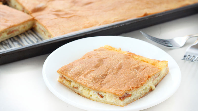 Egg and Bacon Slab Pie
