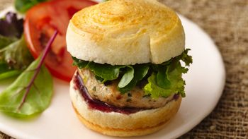 Herb Chicken Sliders with Raspberry Mustard