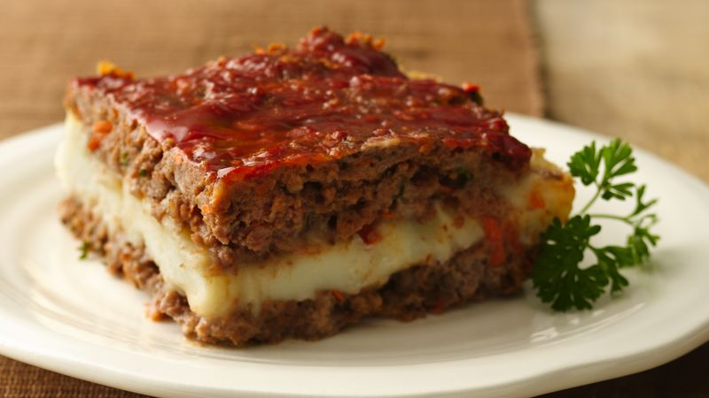 Gluten-Free Mashed Potato Stuffed Meatloaf Squares