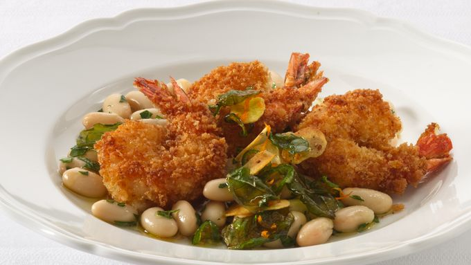 Angry Shrimp with Tuscan White Beans