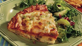 Easy Mushroom Pizza Pie