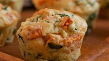 Sweet Potato, Kale and Feta Muffins