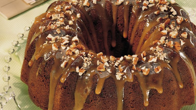 Chocolate-Caramel-Nut Cake