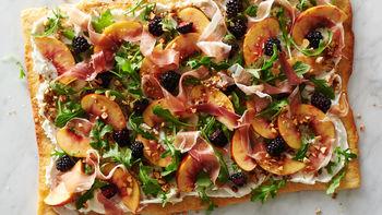 Blackberry, Nectarine and Prosciutto Pizza