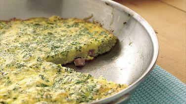 Frittata de Jamón y Hierbas