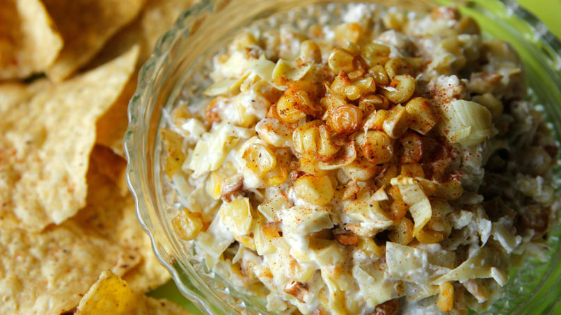 Roasted Corn and Artichoke Dip