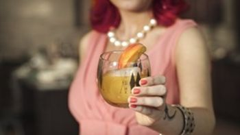 Modern Old-Fashioned Cocktail