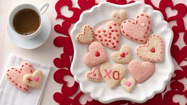 Strawberry Cream Cheese Heart Cookies