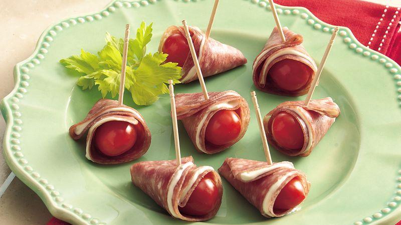 Salami and Tomato Folds
