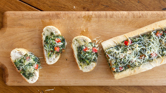 Spinach Dip in French Bread
