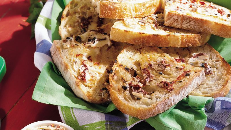 Grilled Sun-Dried Tomato Toast