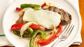 """Grilled """"Philly"""" New York Strip Steaks"""