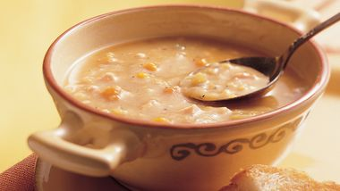 Slow-Cooker Yellow Split Pea Soup with Canadian Bacon