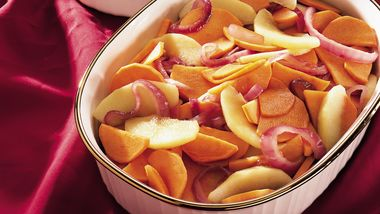 Sweet Potatoes With Apples And Onions