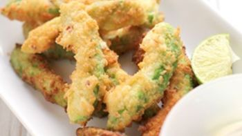 Avocado Fries with Cilantro-Lime Ranch Dipping Sauce