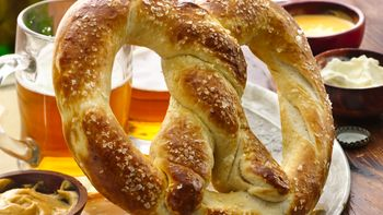 Victory Pretzel with Dipping Sauces