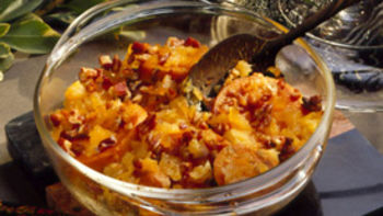 Yam and Pineapple Casserole for Two
