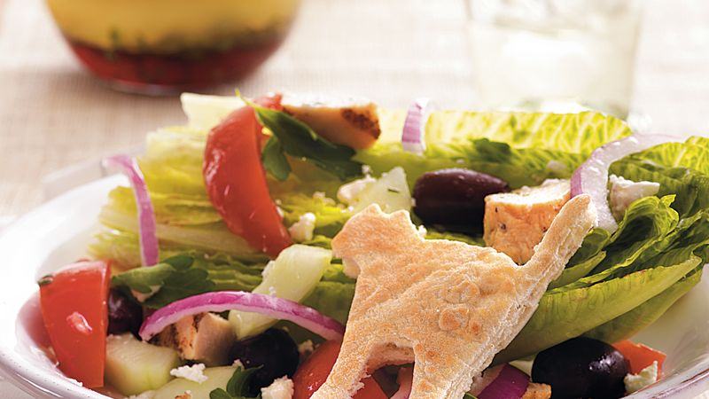 Scaredy-Cat Greek Chicken Salad