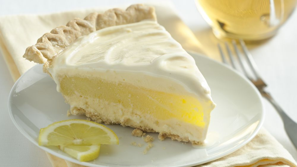 Lemon Layer Ice Cream Pie