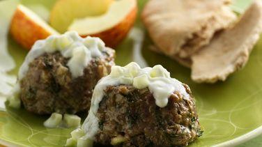 Mini Greek Meatloaves with Tzatziki Sauce
