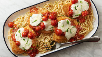 Chicken Parmesan with Roasted Cherry Tomato Sauce