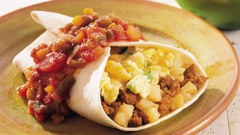Chorizo and Egg Breakfast Burritos