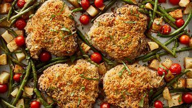 Italian Pork Chop Sheet-Pan Dinner