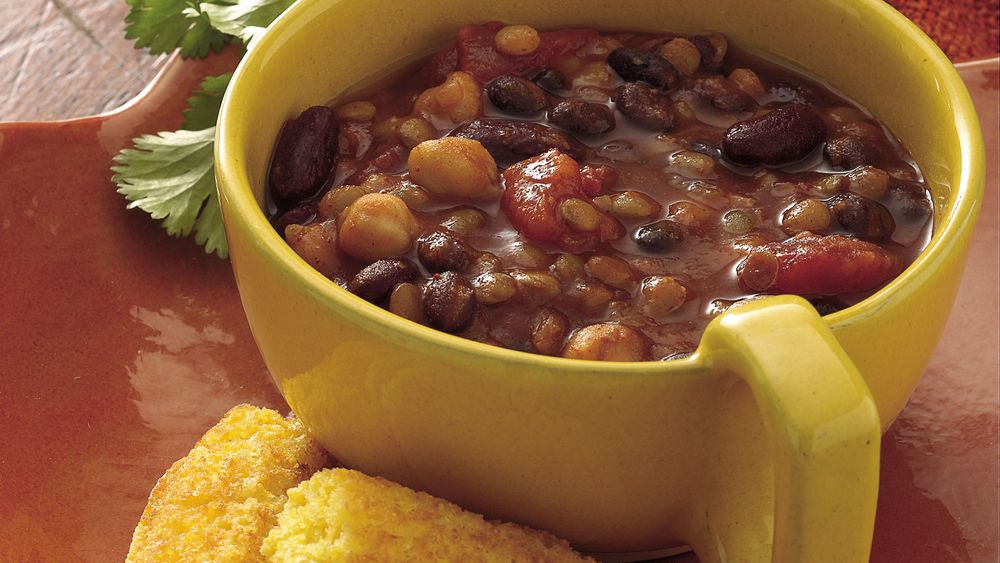 Slow-Cooker Three-Bean Chili
