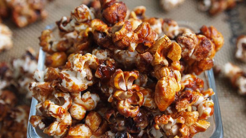Popcorn con Salsa de Caramelo