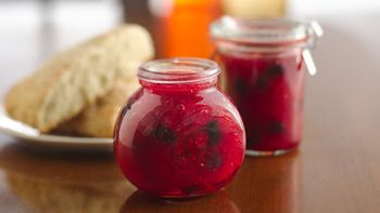Triple-Berry Pomegranate Freezer Jam