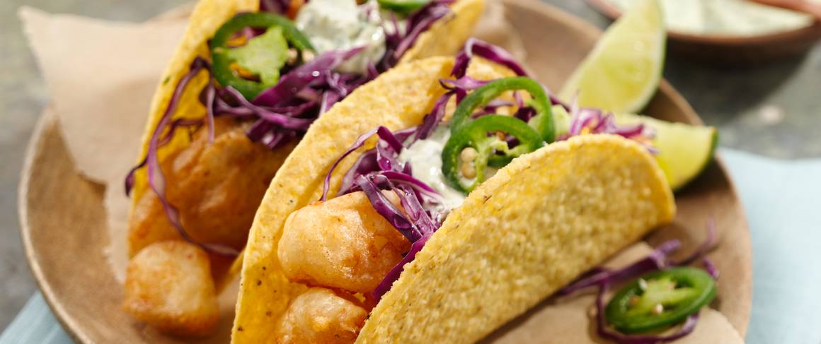 Beer battered fish tacos recipe from betty crocker for Bisquick fish batter