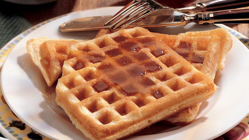 Orange Waffles with Maple-Orange Syrup
