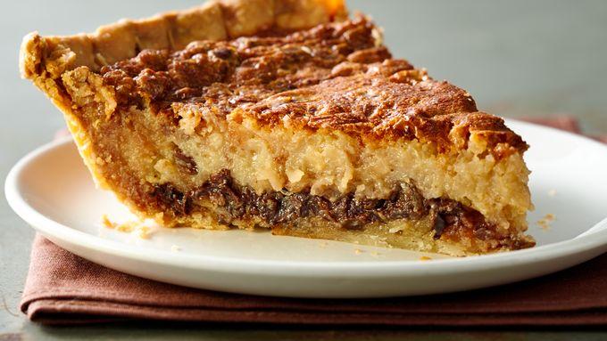 Chocolate and Coconut Pecan Custard Pie