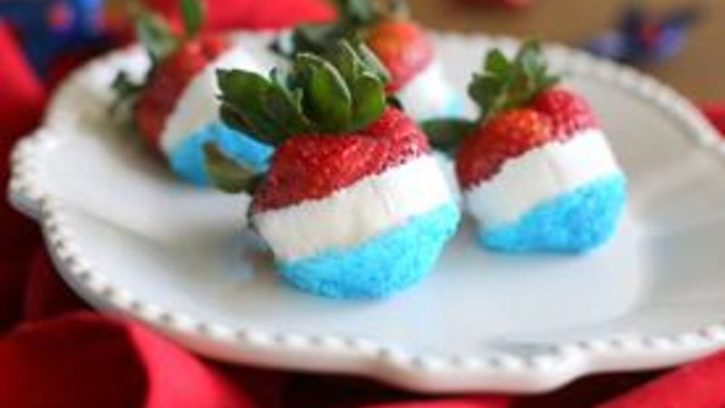 Red, White and Blue Strawberries