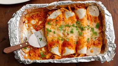 Freezer Chicken and Adobo Enchiladas