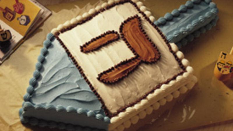 Hanukkah Dreidel Cake